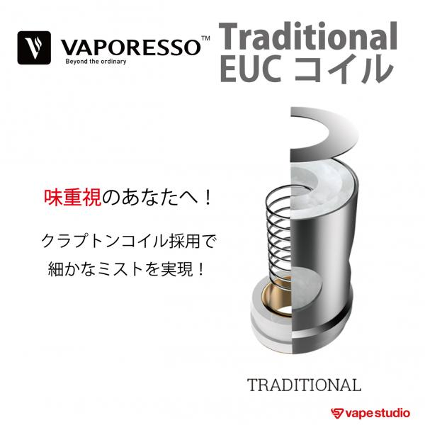 VAPORESSO Traditional EUCコイル 0.4ohm (5個入り)