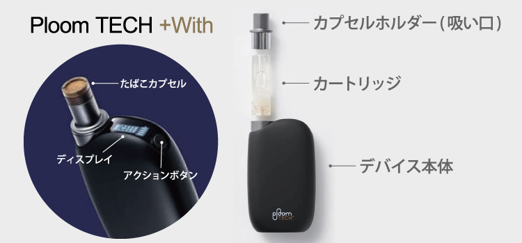 Ploom TECH+With(プルーム テック プラス ウィズ)
