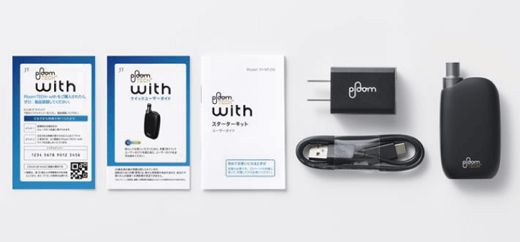 Ploom TECH+With(プルーム テック プラス ウィズ)のセット内容